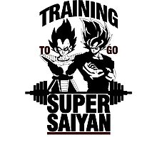 Training to go Super Saiyan v2 Photographic Print