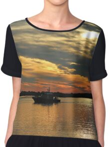 Sunset Over The Water Chiffon Top