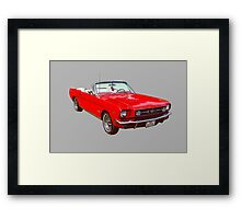 1965 Red Ford Mustang Convertible Framed Print
