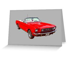 1965 Red Ford Mustang Convertible Greeting Card