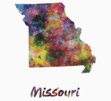 Missouri US state in watercolor Kids Clothes
