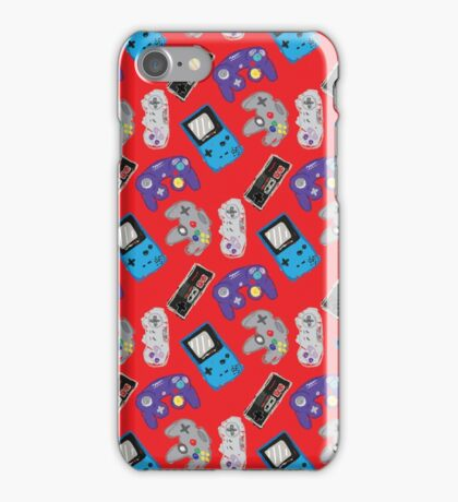 Nintendo Nostalgia - Red iPhone Case/Skin