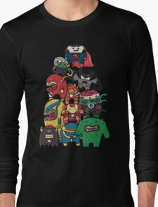 monsters are super heroes Long Sleeve T-Shirt