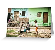 Village Well - Agra, India Greeting Card