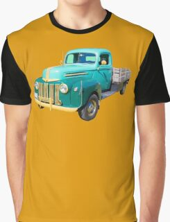 Old Flat Bed Ford Work Truck Graphic T-Shirt