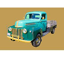 Old Flat Bed Ford Work Truck Photographic Print