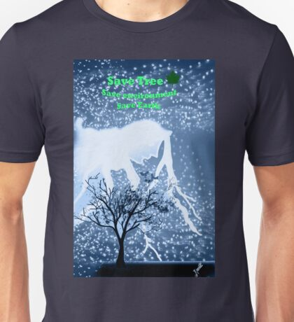 Blue World and a tree Unisex T-Shirt