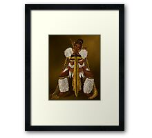 Zulu Warrior Elf Framed Print