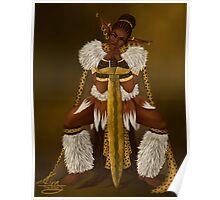 Zulu Warrior Elf Poster