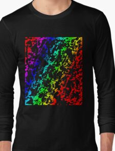 Rainbow of Colors Abstract 62916 Long Sleeve T-Shirt