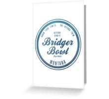 Bridger Bowl Ski Resort Montana Greeting Card