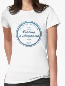 Cortina d'Ampezzo Ski Resorts Italy Womens Fitted T-Shirt