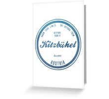 Kitzbuhel Ski Resort Austria Greeting Card