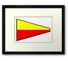 Number 7 Pennant Framed Print