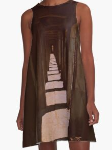 sepia stairwayy A-Line Dress