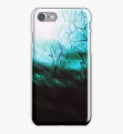 Teal Underwater Scene 2 iPhone Case/Skin
