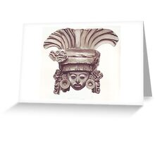Mayan statue Greeting Card