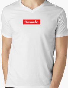Vintage Harambe Mens V-Neck T-Shirt