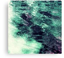 Teal Underwater Scene 6 Canvas Print