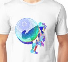 Baseball Pitcher In Motion And Abstract Unisex T-Shirt