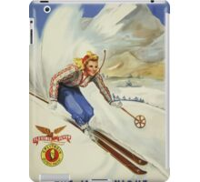 The Inn Unique New Hampshire Vintage Travel Poster iPad Case/Skin