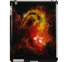 DEVIL HORN ON ABSTRACT iPad Case/Skin