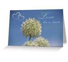 Love has no limits Greeting Card