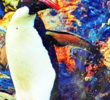 universe penguin Sticker