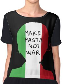 Make Pasta Not War Chiffon Top