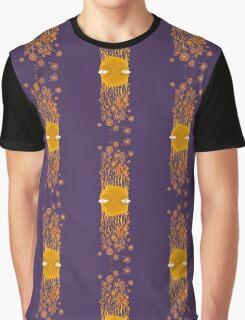 Flying Flower Face Stripe Graphic T-Shirt