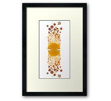 Flying Flower Face Stripe Framed Print