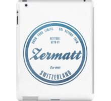 Zermatt Ski Resort Switzerland iPad Case/Skin