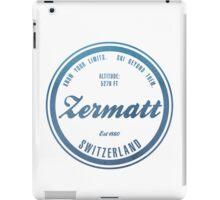 Zermatt Ski Resort Switzerland iPad Case/Skin