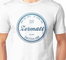 Zermatt Ski Resort Switzerland Unisex T-Shirt