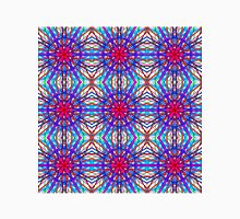 Mandala In Blue And Fuschia - Tiled Unisex T-Shirt