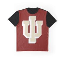 Logo of Indiana University for DarkColors Graphic T-Shirt