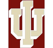 Logo of Indiana University for Dark Colors Photographic Print