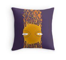 Flying Flower Face Stripe Throw Pillow
