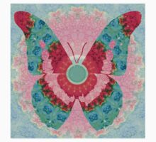 Butterfly Mandala 3 Art by Sharon Cummings One Piece - Short Sleeve