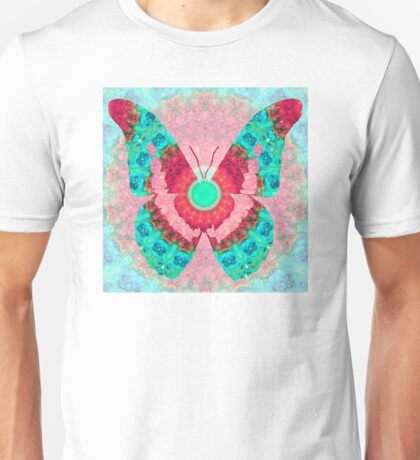 Butterfly Mandala 3 Art by Sharon Cummings Unisex T-Shirt