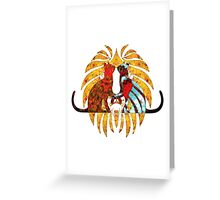 Hot Cats Glowing Red Greeting Card