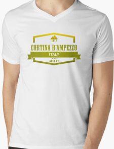 Cortina d'Ampezzo Ski Resorts Italy Mens V-Neck T-Shirt