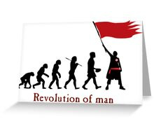 Revolution of Man Greeting Card
