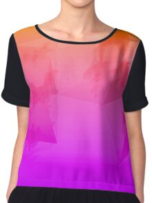 Orange to Purple Ombre Chiffon Top