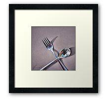 """""""Spoon & fork - 2"""" Framed Print"""