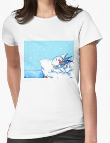 Seaside Snowfall Womens Fitted T-Shirt