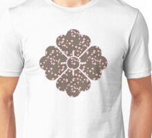 Japanese Pink Cherry Blossom Branches on Taupe Unisex T-Shirt