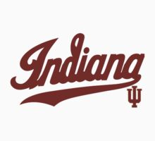 Indiana Hoosiers Logo  for Light Colors Kids Tee