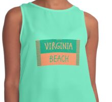 VIRGINIA BEACH towel shirt Contrast Tank