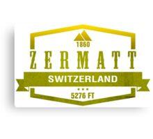 Zermatt Ski Resort Switzerland Canvas Print